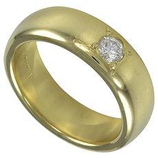 Tiffany & Co. Gold Band with Diamond