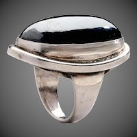 Georg Jensen Sterling Silver Ring No. 46E with Hematite