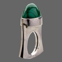 Georg Jensen Sterling Silver Ring No. A89 with Malachite