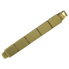 Georg Jensen Gold Tie Bar No. 1064 B
