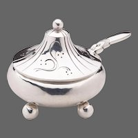Georg Jensen Cactus Mustard Pot & Spoon No. 433A
