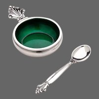 Georg Jensen Salt Cellar & Spoon No. 180
