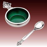 Georg Jensen Salt Cellar & Spoon No. 180