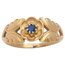Georg Jensen Gold Ring 137 with Sapphire