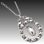 Georg Jensen Sterling Pendant Necklace No. 20