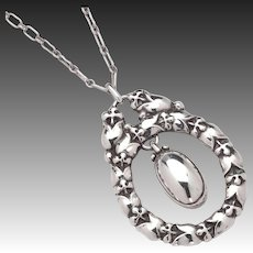 Georg Jensen Sterling Pendant Necklace No. 20