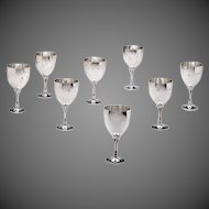 Set of Eight Georg Jensen Sterling Silver Goblets No. 532A
