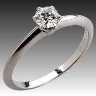 Tiffany Platinum Engagement Ring with Diamond