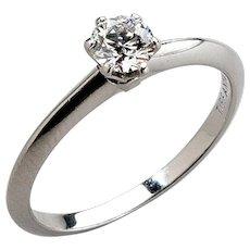 Tiffany Platinum Engagement Ring with Diamond