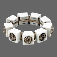 Anton Michelsen White Royal Copenhagen Porcelain with sterling silver Bracelet