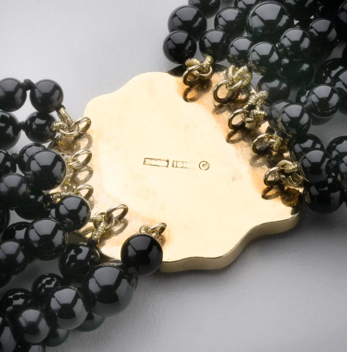 Tiffany & Co. Multi-Stand Onyx Beaded Necklace : Drucker ...