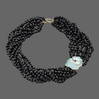 Tiffany & Co. Multi-Stand Onyx Beaded Necklace