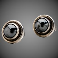 Georg Jensen  Earrings No. 8 with Hematite
