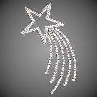 Butler & Wilson Large Rhinestone Shooting Star Brooch