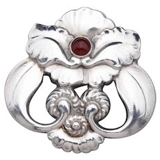 Georg Jensen Brooch No. 97 with Carnelian