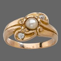 LeBolt Gold, Diamond & Pearl Ring