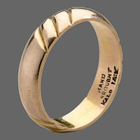 American Arts & Crafts Kalo Gold Band