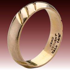 American Arts & Crafts Kalo Gold Band
