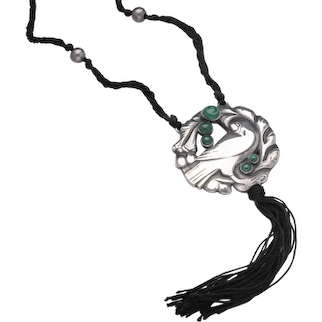 Georg Jensen Necklace No. 123 Malachite