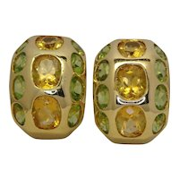 Peridot and Yellow Topaz Earrings