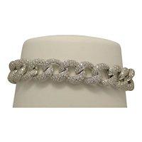 7.50 Carat Diamond Link Bracelet