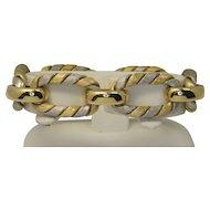 18k White & Yellow Gold Bracelet