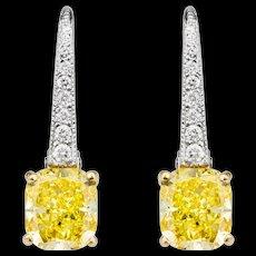 Graff Vivid Yellow Diamond Earrings