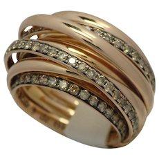 DeGrisogono 18k Pink Gold Allegra Diamond Ring