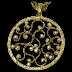 Diamond & 18k Yellow gold Pendant