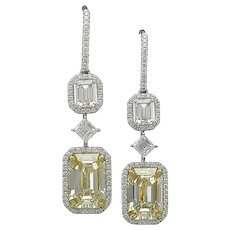 PLATINUM FANCY LIGHT DIAMOND EARRING