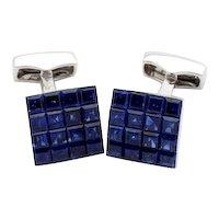 sapphire invisible cufflinks