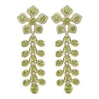 Peridot & Diamond Earrings