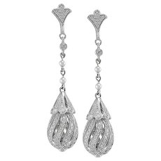 Diamond Earrings Set in Platinum
