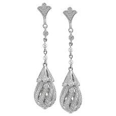 Diamond Earrings Set in Platinum