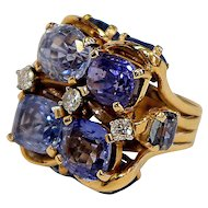 Sapphire Cocktail Ring by Seaman Schepps