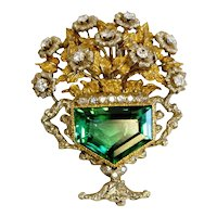 Tourmaline & Diamond Brooch from Buccelati