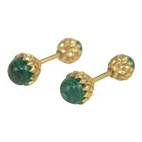 Malachite Cuff Links By Tiffany