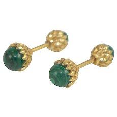 Malachite Cuff Links By Tiffany