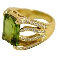 Peridot Flame Ring by Caroline Nelson