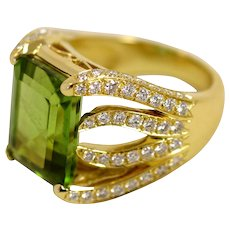 Peridot Flame Ring by Caroline Nelson