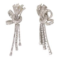 Platinum & Diamond Drop Earrings