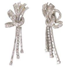 Platinum & Diamond Drop Earrings