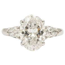 Spectacular oval diamond solitaire ring