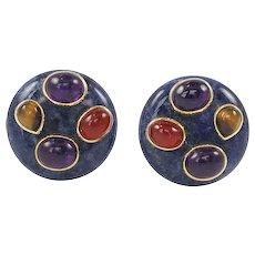 Sodalite Earrings by Kai-Yin Lo