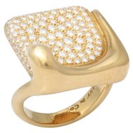 Gold & Diamond Ring by Elsa Peretti