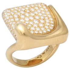 Gold & Diamond Ring by Elsa Peretti