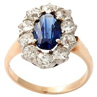 Gold & Platinum Sapphire Ring