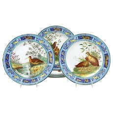 Set of 6 Wedgwood 19th C.Game Bird Plates