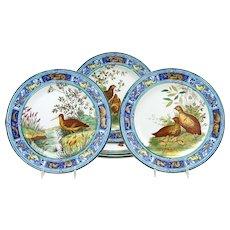 Set of 6 Wedgwood 19th C.Game Bird Plates