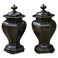Tiffany & Co Covered Vases in Bronze
